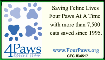 4 Paws Rescue Team, Inc. Ad