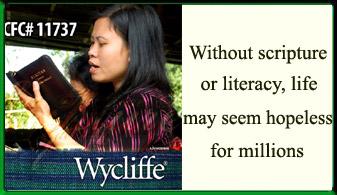 Wycliffe Bible Translators Ad